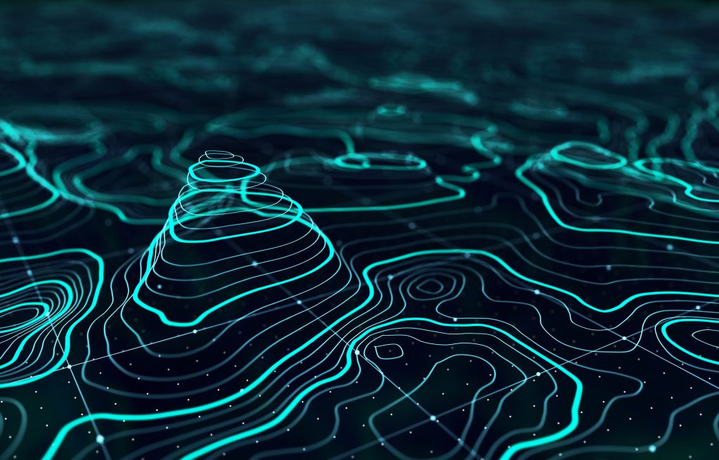 blue AI landschap