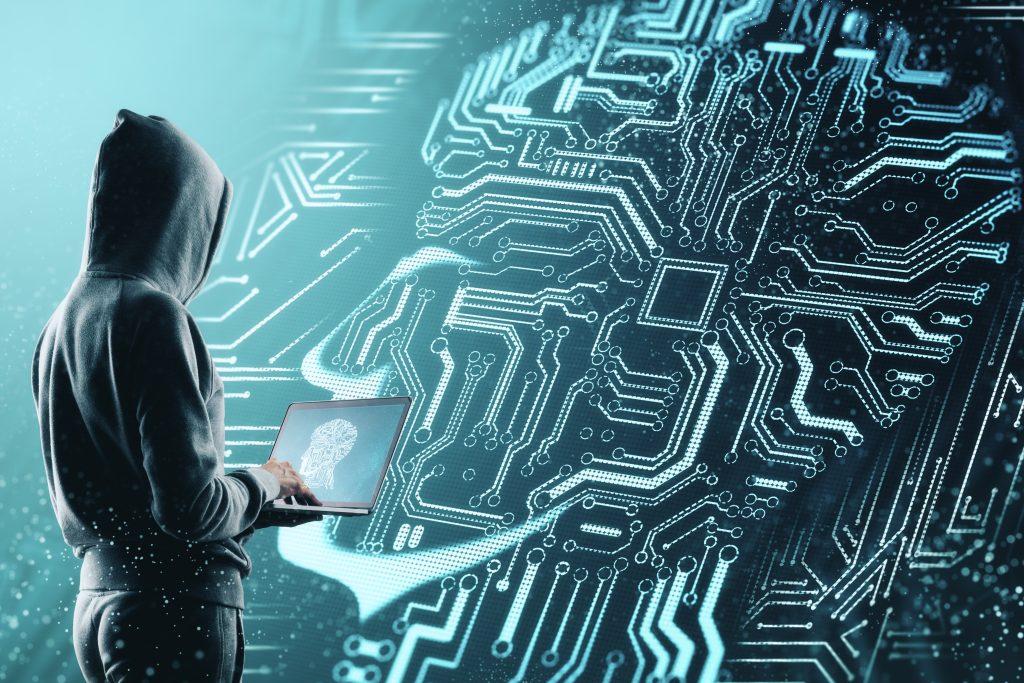 hacker voor een AI gezicht